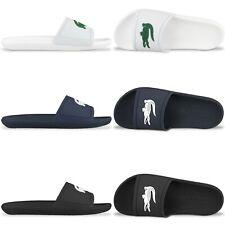 Lacoste Flip Flops - Lacoste Croco Sliders - Black, White, Navy - Sandals, Beach