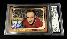 VAL FONTEYNE SIGNED 1966 TOPPS DETROIT RED WINGS CARD #108 PSA/DNA 83749002