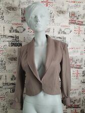 Vintage Jaeger 100% wool taupe blazer jacket Size 12 UK  Work/Office