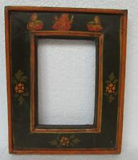 Vintage Hand carved Unique Shape Painted Wooden Picture Photo Frame, Collectible