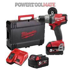 Milwaukee M18ONEPD-502X One Key Fuel Brushless Combi Drill Kit c/w 2 x 5Ah Batts