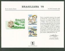 USSouvCard #SC63 MNH: BRASILIANA '79-US #C91-C92&Brazil#1295;Aviators -Lot#11/15