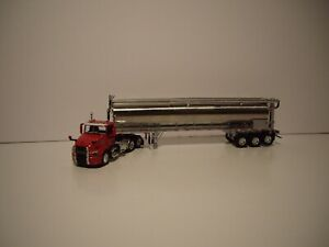 DCP FIRST GEAR 1/64 RED MACK ANTHEM DAYCAB SILVER TRI-AXLE WALINGA FEED TRAILER