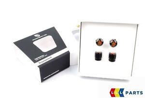 NEW GENUINE PORSCHE CRESTED BLACK TYRE VALVE CAPS SET 4PCS 99104460267