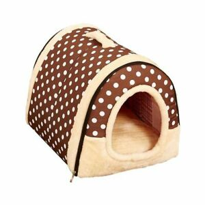 Small Dog Bed House Warm Soft Bed With Cushion Winter Personal Pet Nest