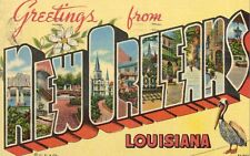 Large Letter Postcard,Greetings from New Orleans,Louisiana,Used,1954