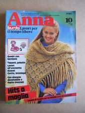 ANNA Burda n°10 1982 con cartamodelli  [C60]