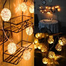 New Popular 20pcs LED Rattan String Ball Lantern Lights Wedding Party Decoration