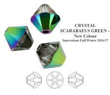 Genuine Swarovski 5328 Xilion Bicone Crystals Beads * More Colors & Sizes Crystal Scarabaeus Green 5mm - 20 Pieces/pack