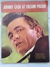 VTG 1969 RARE JOHNNY CASH AT FOLSOM PRISON SONGBOOK SHEET MUSIC SOUTHWIND MUSIC