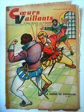 COEURS VAILLANTS N°8 DU 23/02/1958  Misère de Chatillon