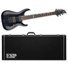 ESP LTD H-1007 See Thru Black STBLK NEW Electric Guitar H1007 NT + ESP CASE