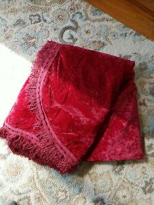 Red Crushed Velvet Bedspread