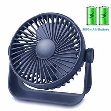 Desk Small Table Fan Rechargeable Battery Operated Mini Fan 360 Degree Rotation
