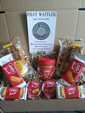 Chocolate waffle  Hamper Box lotus biscoff surprise.Sweet treat, Birthday treat