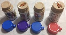 (Lot of 4) Vintage Lunchbox Aladdin Thermos Power Rangers Beauty and the Beast +