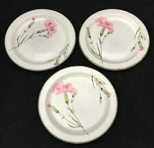 3 Stonehenge Midwinter Invitation Pink Carnation Bread & Butter Plates England