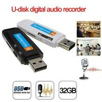 U-Disk Digital Audio Voice Recorder Pen USB Flash Drive up to 32GB TF Cards