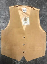 Suede By Design S/M (8-12) Real Suede Waistcoat Brown Leather Country Autumn