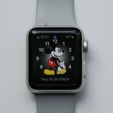 APPLE WATCH IWATCH ALUMINUM 38MM SERIES 3 SILVER GPS EXCELLENT CONDITION