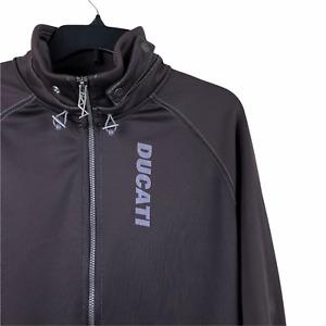 Ducati Puma Medium Riding Sport Jacket Brown Motorcycle Coat Zip Up