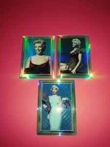 MARILYN MONROE 1995 SPORTS TIME. 3 INSERT CARDS #'S 2-4-5 NEW/ M