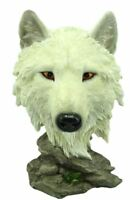 Wolf Bust Statue Noble Wolf Head Figurine Hand Painted Ornament Figurine