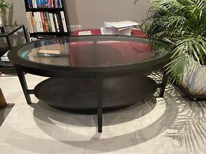ikea glass coffee table black W80 x L130 x H52