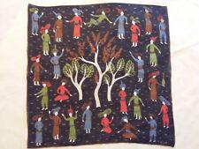 Tammis Keefe Tree 0f Life Parisian Vintage Linen Handkerchief