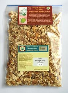 SWEET ORANGE PEEL 200g Organic Citrus sinensis NO DYES or Additives Dried