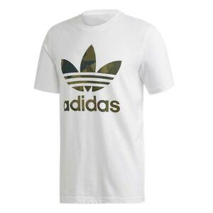 Adidas Camouflage T-Shirt Tee Herren Men Freizeit Sport Training Weiß White