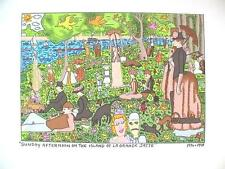 Farblithographie James Rizzi 1998 : 2D Sunday afternoon on the island