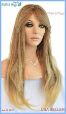 SYNTHETIC HUMAN HAIR BLEND WIG HEAT SAFE T85 INCREDIBLE HOT LONG STRAIGHT  *239