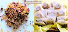 Biodegradable Boda Confeti natural mezcla de verano de pétalos de seca 120 bolsas de papel