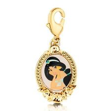 Disney Couture Princess Jasmine Necklace Charm Yellow Gold DCH0902