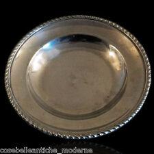 Piatto Vintage in Metallo Argentato Silver Plate anni '70
