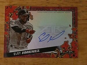 2021 Topps Fire Eloy Jimenez Scorching Signatures AUTO /25 On card - White Sox