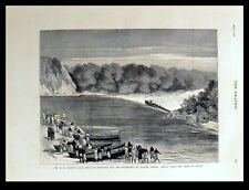 MR. H.M. STANLEY'S ANGLO-AMERICAN EXPEDITION 1878 VICTORIAN ENGRAVING