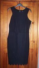 Black Shift Dress sz 10 NWT F&F