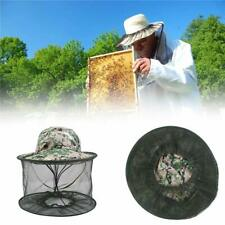 Fishing Hat Anti-Mosquito Bug Insect Head Net Mesh Face Sun UV Protection Cap