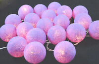 20 x Pale Purple 6cm Ball Fairy Light Party Room Bedroom Night Event Decoration