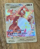 CHARIZARD VMAX 020/189 CUSTOM GOLD METAL CARD ~Pokemon Style Collectable Card 🔥