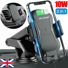 Wireless Car Charger Mount 10W Auto Clamping Phone Holder For Samsung S21 iPhone