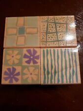 Hero Arts Poetic Prints Pinwheels & Stripes Rubber Stamps Set of 4