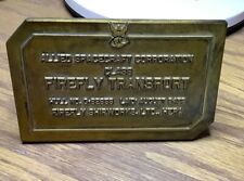 Firefly Loot Create Exclusive Serenity Brass Bridge Dedication Plaque