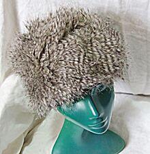 Smart Gris Chaud rayures fausse fourrure chapeau M/L Deep Cosaque Doux Boîte à pilules style chic