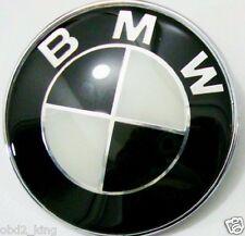 82mm BMW Black White emblem hood or trunk FITS BMW