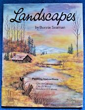 Landscapes Painting Pattern Book Bonnie Seaman Bird Old Mill Church