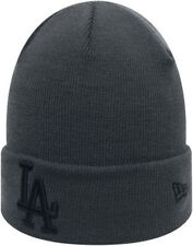 NEW ERA MENS BEANIE HAT.MLB LA DODGERS DARK GREY KNITTED CUFF WARM HAT 8S 393