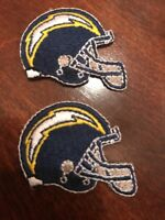 2 - Los Angeles  Chargers  Embroidered Iron On Patch Lot Patches 1.5""